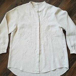 Buykud embroidered linen blouse Lg